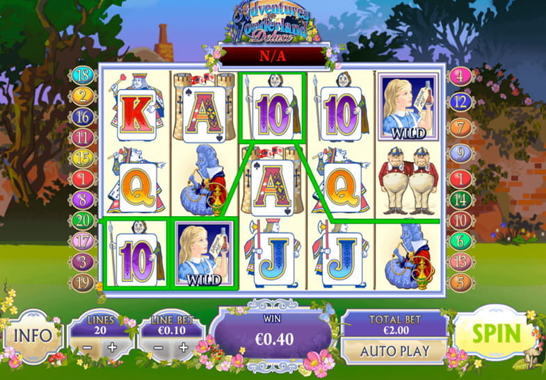 Adventures in Wonderland Ash Gaming Slot