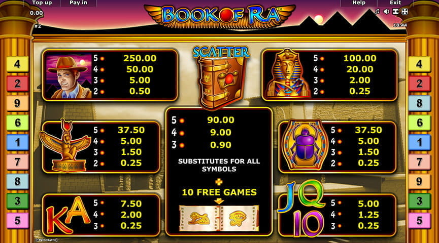 online casino site slots book of ra