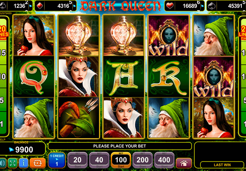 Slot Dark Queen oleh EGT