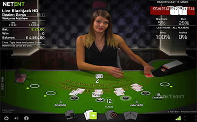 NetEnt's Live Dealer Blackjack