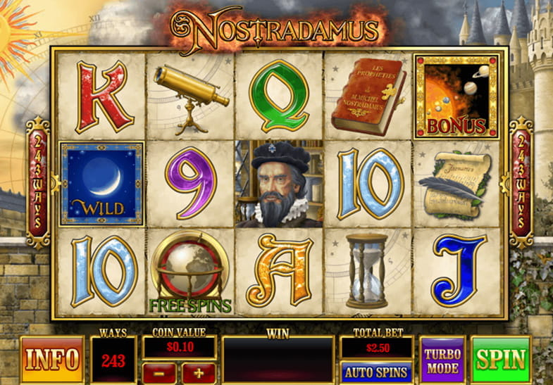 Nostradamus slot by Ash Gaming