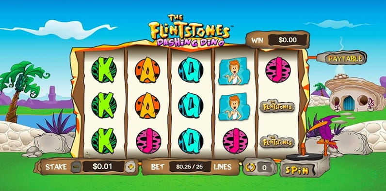 Memainkan Slot Dino Dashing Flintstones oleh Geco Gaming