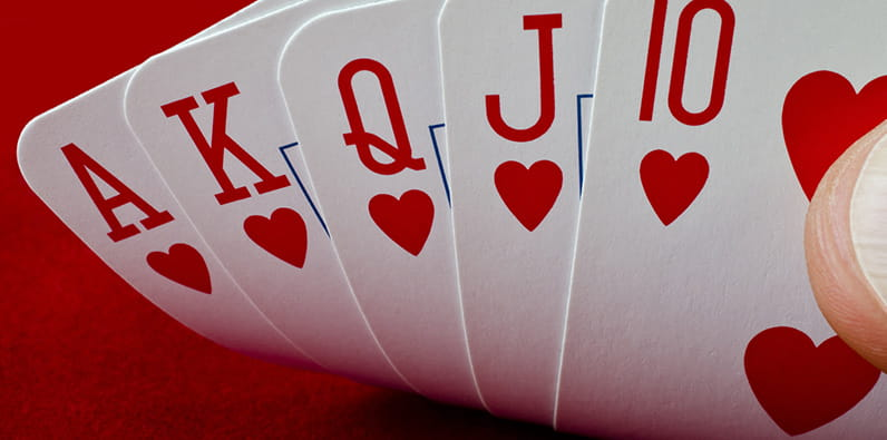 Straight Flush of Hearts